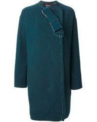 Lanvin Panelled Front Coat - Lyst