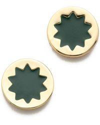 House Of Harlow Enameled Starburst Stud Earrings - Greengold - Lyst