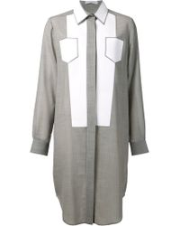 Viktor & Rolf Faux Pocket Shirt Dress - Lyst