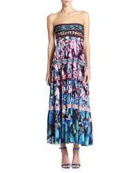 Jean Paul Gaultier Strapless Printed Gypsy Dress - Lyst