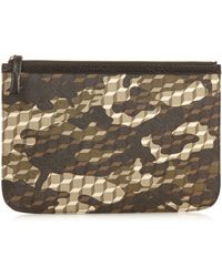 Pierre Hardy - Cube And Camouflage-print Coated-canvas Pouch - Lyst