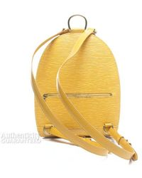 Louis Vuitton Pre-owned Tassili Yellow Epi Leather Mabillon Backpack - Lyst