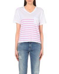 Zoe Karssen Striped Jersey T-Shirt - For Women - Lyst