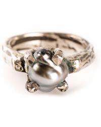 Henson Silver Claw Ring - Lyst