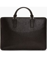Alexander McQueen Black Grain Leather Briefcase - Lyst