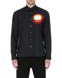 Ann Demeulemeester Spotlight Print Shirt Black - Lyst