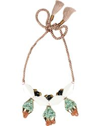 Hoss Intropia Necklace green - Lyst