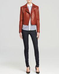 J Brand Jacket - Aiah Mercury Leather - Lyst