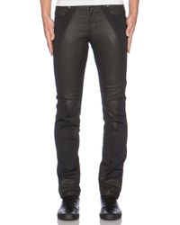 Versace Coated Denim - Lyst