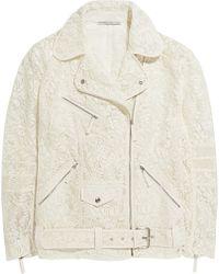 Alessandra Rich Lace Biker Jacket - Lyst