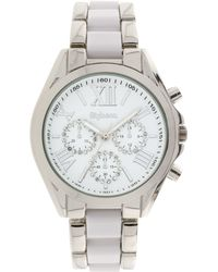 Style & Co. - Women's Chronograph Two-tone Stainless Steel And Plastic Bracelet Watch 40mm Sy005swh, Only At Macy's - Lyst