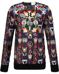 Mary Katrantzou Poppycon Lace Sweater - Lyst