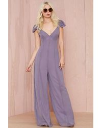 Nasty Gal Ladies Night Chiffon Jumpsuit - Lyst