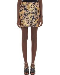 Lanvin Brocade Mini Skirt - Lyst