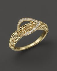 Lagos 18K Gold And Flame Diamond Caviar Ring - Lyst