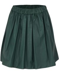 MSGM Green Leather Skirt green - Lyst