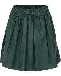MSGM Green Leather Skirt - Lyst