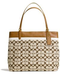 Coach Tote in Printed Signature Fabric - Lyst