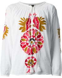 Antik Batik Orea Embroidered Top - Lyst