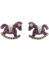 Pippo Perez - Ruby Rocking Horse Studs - Lyst