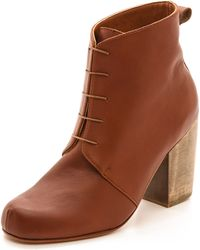 Rachel Comey Nash Lace Up Booties Whiskey - Lyst