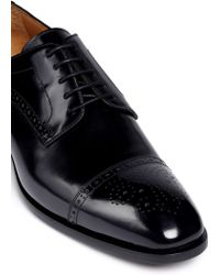 Rolando Sturlini | 'abrasivato' Half Brogue Leather Derbies | Lyst