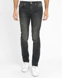 Billtornade | Faded Django Leather Slim-fit Jeans | Lyst