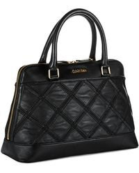 Calvin Klein Leather Satchel Bag - Lyst