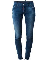 DSquared2 Medium Waist Skinny Jeans - Lyst