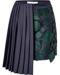Mary Katrantzou Wool Jumbar Miniskirt - Lyst