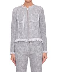 T By Alexander Wang Cotton Twill Jacket - Lyst