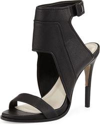 Pour La Victoire Venga Leather Ankle-Wrap Sandal - Lyst