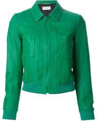 Saint Laurent Cropped Leather Western Jacket - Lyst