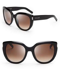 Saint Laurent Oversized Cat Eye Sunglasses - Lyst