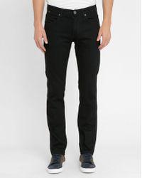 M.studio Black Géraud Slim-fit Jeans black - Lyst