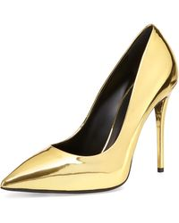 Giuseppe Zanotti Metallic Leather Pointed-toe Pump - Lyst
