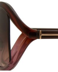 Tom Ford Pink Sandra Butterfly Frame Sunglasses - Lyst