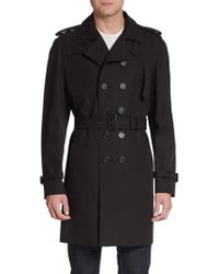 Burberry Prorsum Double-breasted Cotton Trench - Lyst
