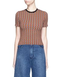 Opening Ceremony | Check Stretch Knit Crop Top | Lyst