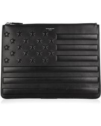 Givenchy American Flag Embossed Leather Pouch - Lyst