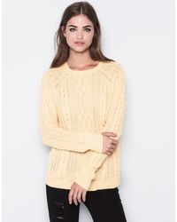 Pull&Bear Cable Stitch Jumper - Lyst