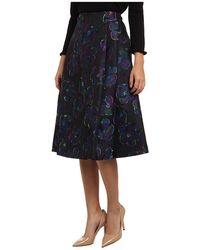 Kate Spade Floral Clip Dot A Line Skirt - Lyst