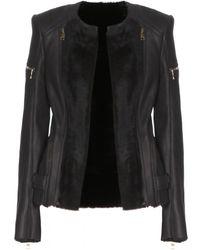 Balmain Leather Jacket - Lyst