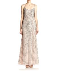 Basix Black Label Sequined Slip Gown - Lyst