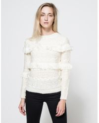 Need Supply Co. Arcadia Fringe Sweater white - Lyst