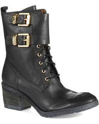 Donald J Pliner Lace Up Boots - Lyst