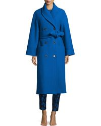 Risto - Long Belted Wool Coat - Lyst