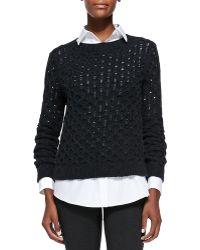 Theory Koralyn Lightweight Knit Sweater - Lyst
