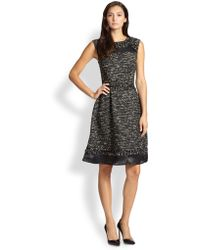 St. John Metallic Tweed Dress - Lyst