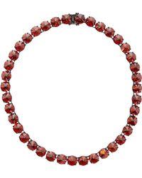 Fallon Red Classique Necklace - Lyst